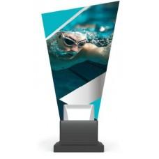 Γυάλινο αναμνηστικό κολύμβησης GS-TROPHY